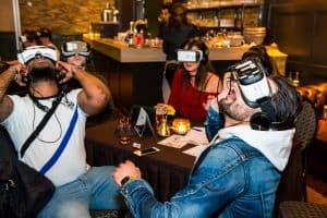 Un repas dans la réalité virtuelle